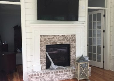 installing TV to wall